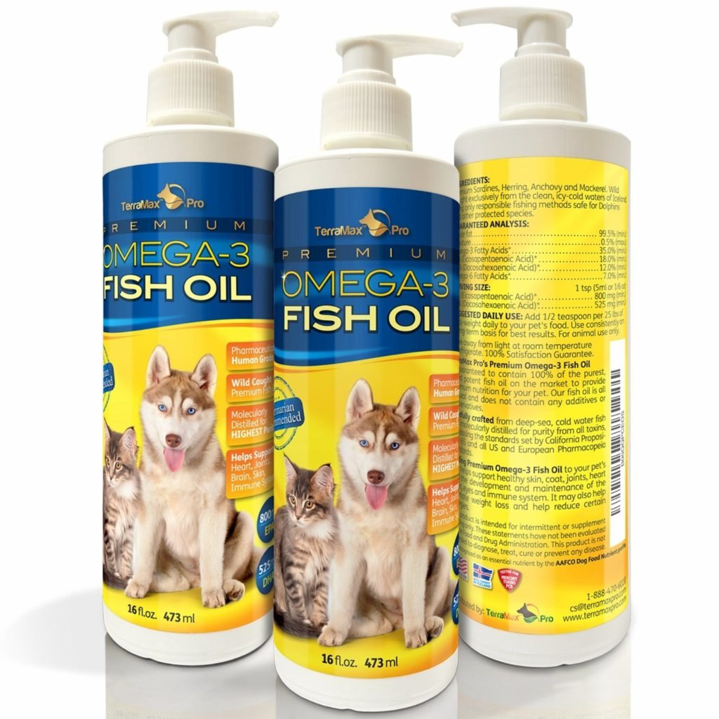 Premium liquid omega 3 fish oil for dogs and cats no for Liquid fish oil for dogs