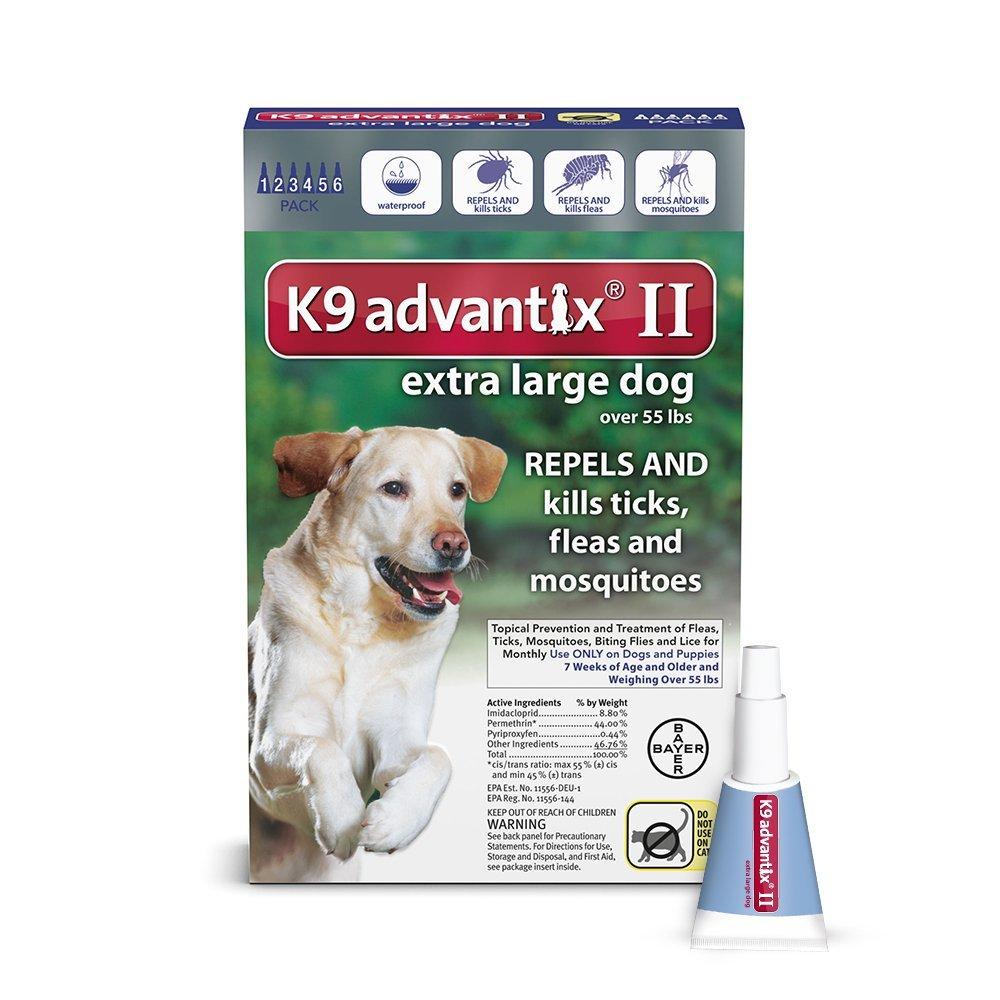 61BxFAhw4NL. SL1000 - K9 Advantix II, Extra Large Dogs, Over 55-Pound, 6-Month